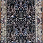 قالیچه دستباف نقش بهشت درختی نایین سه متری