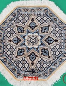 فرش دستباف هشت ضلعی نایین قطر 50 سانتی متر