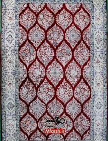 قالیچه دستباف دسته گلی نایین چهار متری