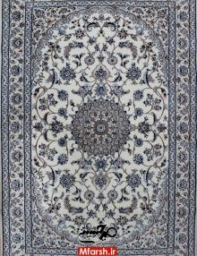 فرش دستباف لچک ترنج اصیل نایین سه متری 6لا