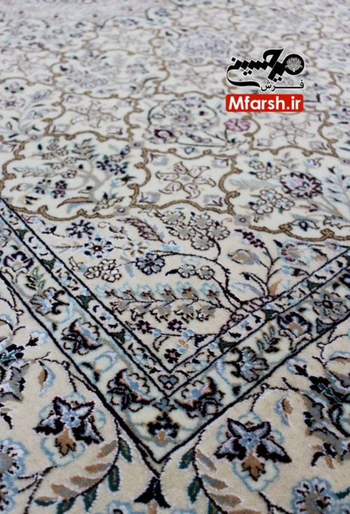 فرش نقشه قابی دستباف نایین سه متری 6لا