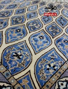 قالیچه نقشه گنبدی دستباف نایین چهار متری 9 لا بافت فرش