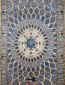 قالیچه نقشه گنبدی دستباف نایین چهار متری 9 لا