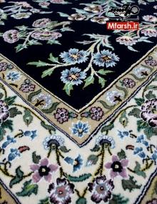 قالیچه چهار متری دستباف نایین طرح سی گل میرحسینی 9لا