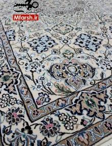 فرش نقشه ترنج قابی دستباف نایین سه متری 9لا بافت فرش