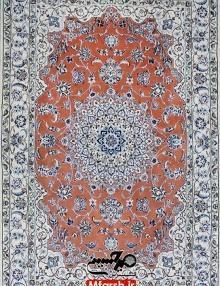 قالیچه جفت چهار متری دستباف نایین لچک ترنج 9لا