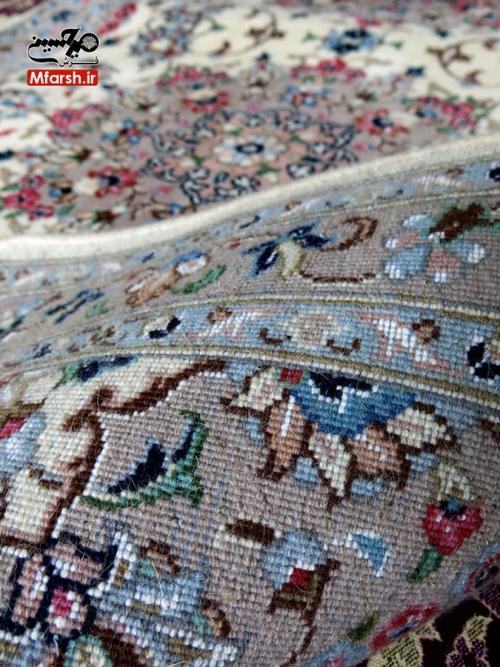 فرش سه متری کناره دستباف اردکان طرح شکوفه 20 خانه