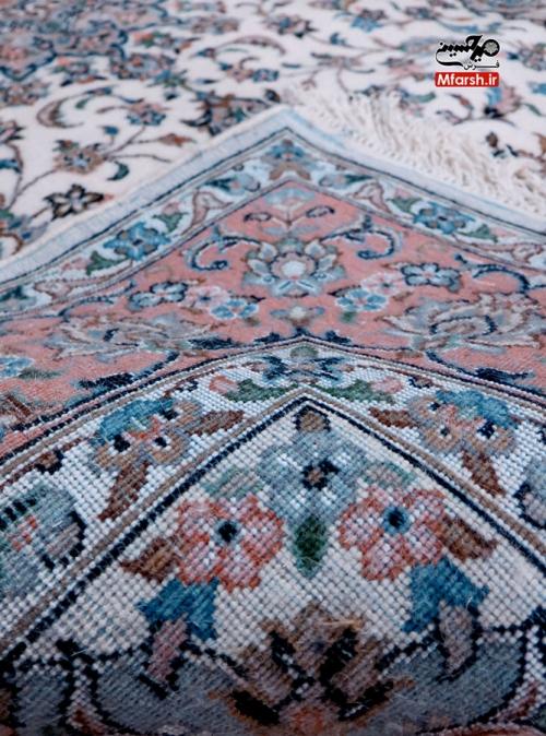 قالیچه پرده ای دستباف اردکان طرح بهار 32 خانه بافت پشت فرش