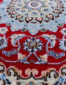 فرش دایره 90 سانتی متری دستباف نایین 9لا