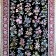 قالیچه سی گل دستباف نایین چهار متری زمینه سرمه ای 9لا