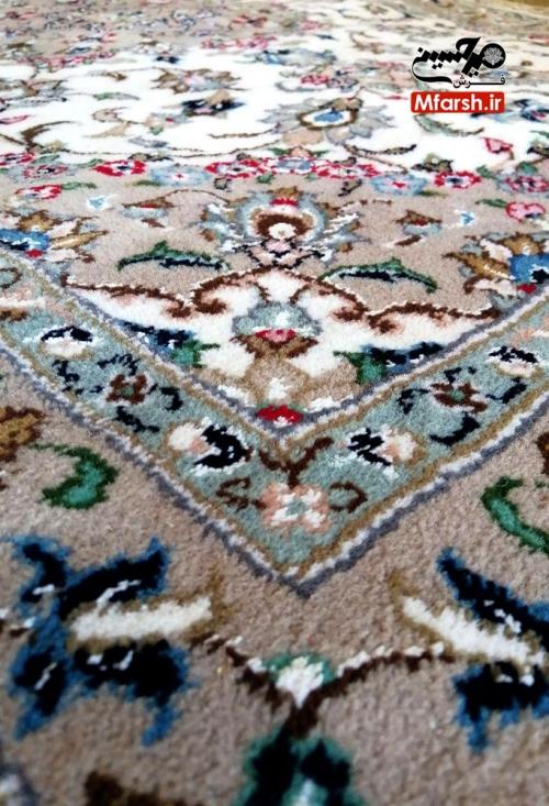 فرش ذرع و نیم دستباف اردکان طرح شکوفه 20 خانه بافت فرش