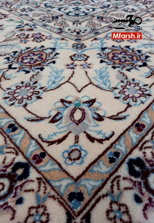 Nain Carpet Akhavan Design Six-Meter White