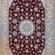 قالیچه چهار متری دستباف لچک ترنج نایین زمینه لاکی 6لا