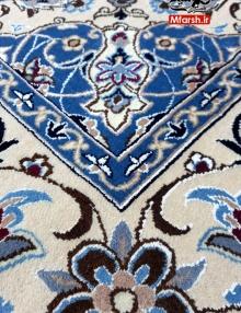 فرش دستباف لچک ترنج نقشه اصیل نایین 3 متری 9 لا بافت فرش