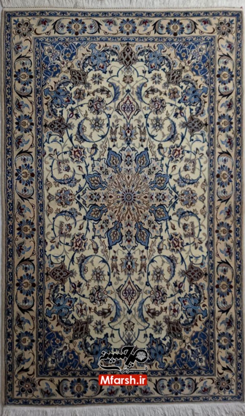 فرش دستباف لچک ترنج نقشه اصیل نایین 3 متری 9 لا
