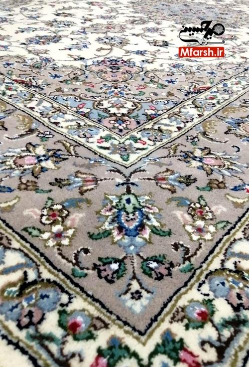 قالیچه اصل اردکان طرح موژان گل ابریشم 32 خانه بافت
