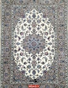 قالیچه اصل اردکان طرح موژان گل ابریشم 32 خانه